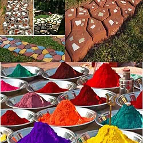 FidgetFidget Grout Plaster Bag Color Cement 1LB Pigment Dye Concrete Multi Colored 502g Orange