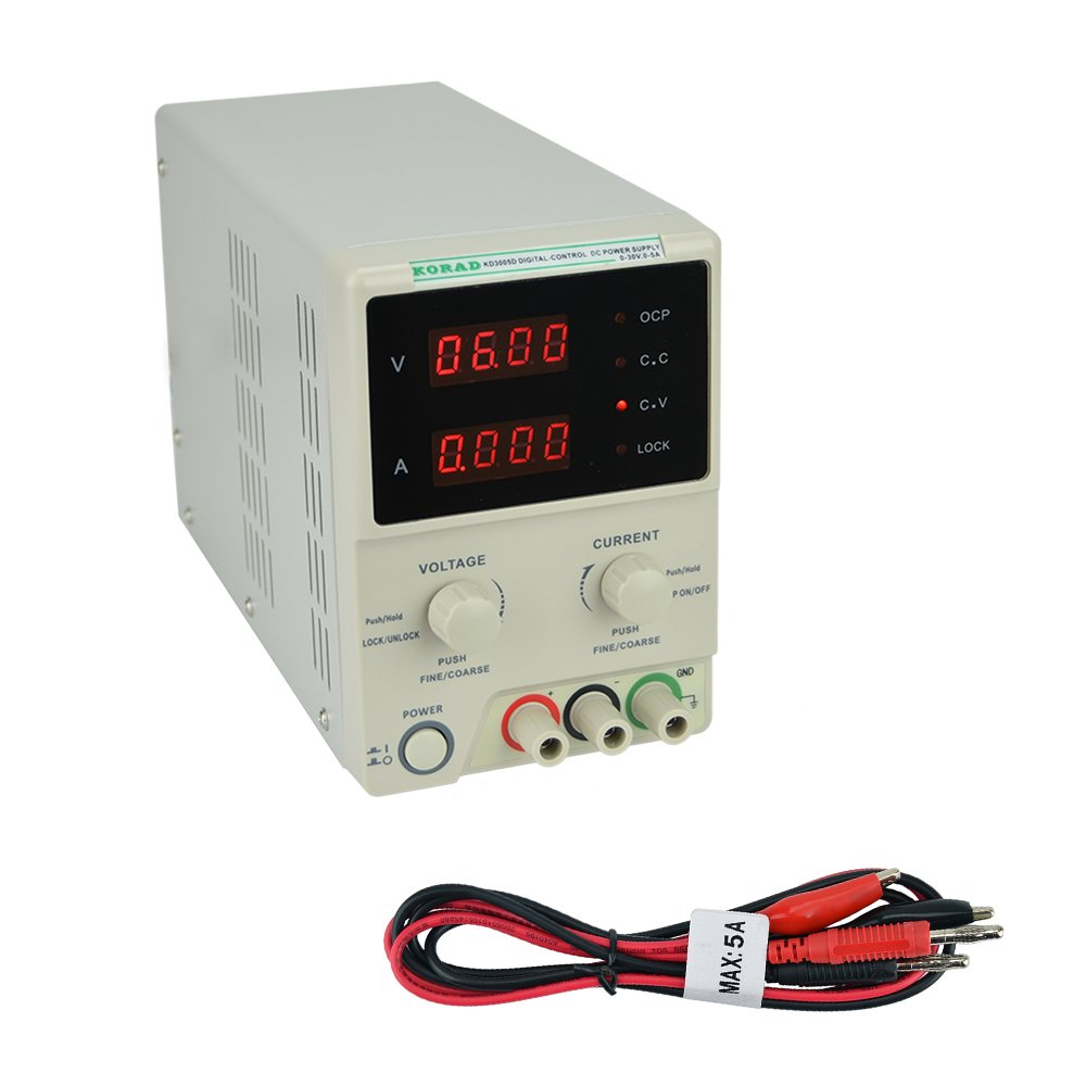 KORAD KD3005D - Precision Variable Adjustable 30V, 5A DC Linear Power Supply Digital Regulated Lab Grade by Korad Technology