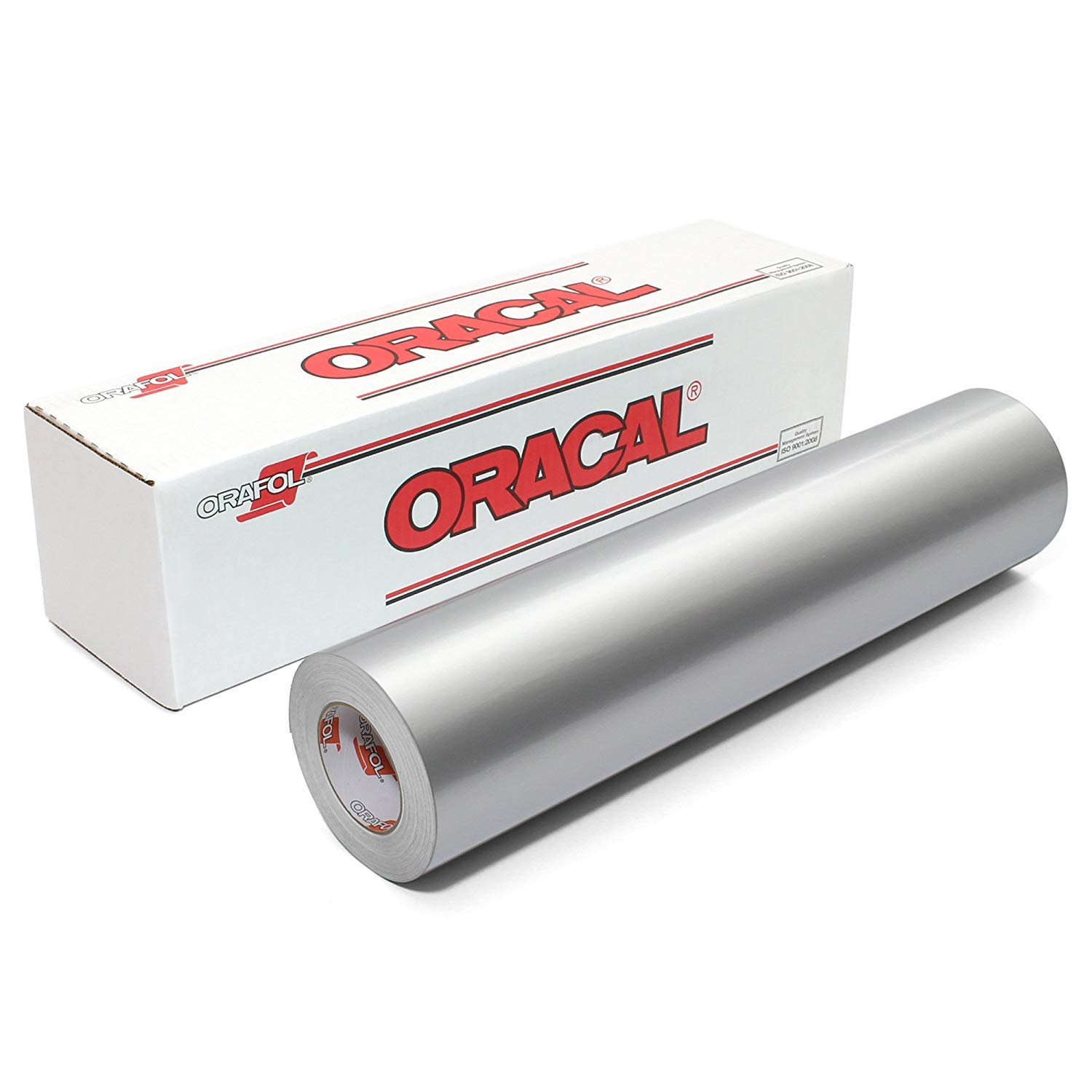 Silver Vinyl 651 by Oracal - Free 3.8 Maple Leaf Decal Roll of Glossy Metallic Silver Grey Outdoor Permanent Adhesive Vinyl 12 x 10 ft