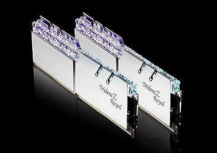 G SKILL Trident Z Royal Series 16GB (2 x 8GB) 288-Pin RGB DDR4 SDRAM DDR4  3000 Desktop Memory Model F4-3000C16D-16GTRS Silver Color for Ryzen and