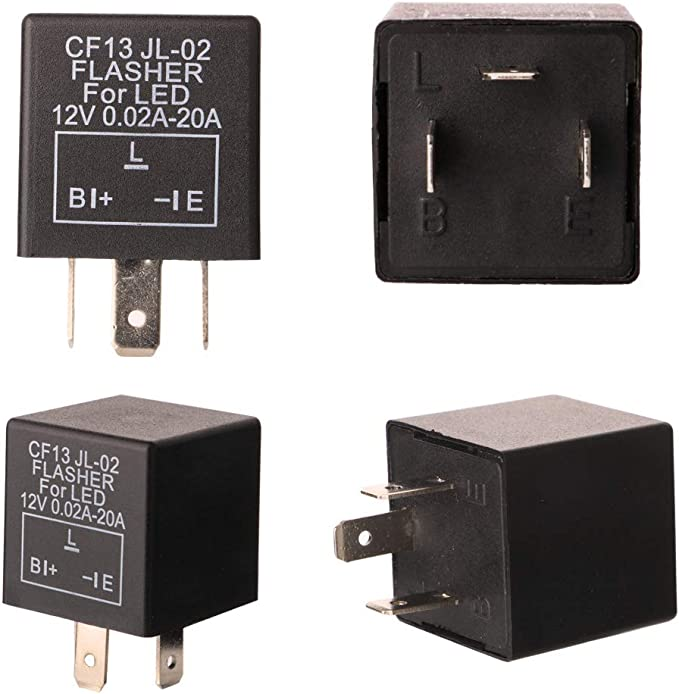 Gebildet 2 St/ücke 3 Polig Blinkrelais CF-14KT Blinker Relais f/ür LED Blinker Elektronische Einstellbare Blinkerrelais 12,8V 0,1W-150W f/ür Fahrzeug Auto Motorr/äder mit 6 Terminals