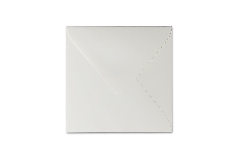 25 Quadratische Briefumschl/äge 15 x 15 cm 150 x 150 mm Hell Grau Verschluss feuchtklebend Grammatur 120 g//m/²