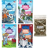 Blue Buffalo Kitty Cravings Crunchy Cat Treats Variety Pack with Catnip - 2 Ounce - 4 Flavors - Chicken, Salmon, Tuna, and Shrimp