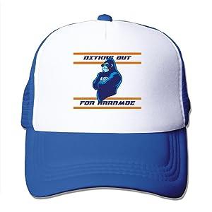 Adult Ditkas Out For Harambe Adjustable Mesh Hat Trucker Baseball Cap RoyalBlue