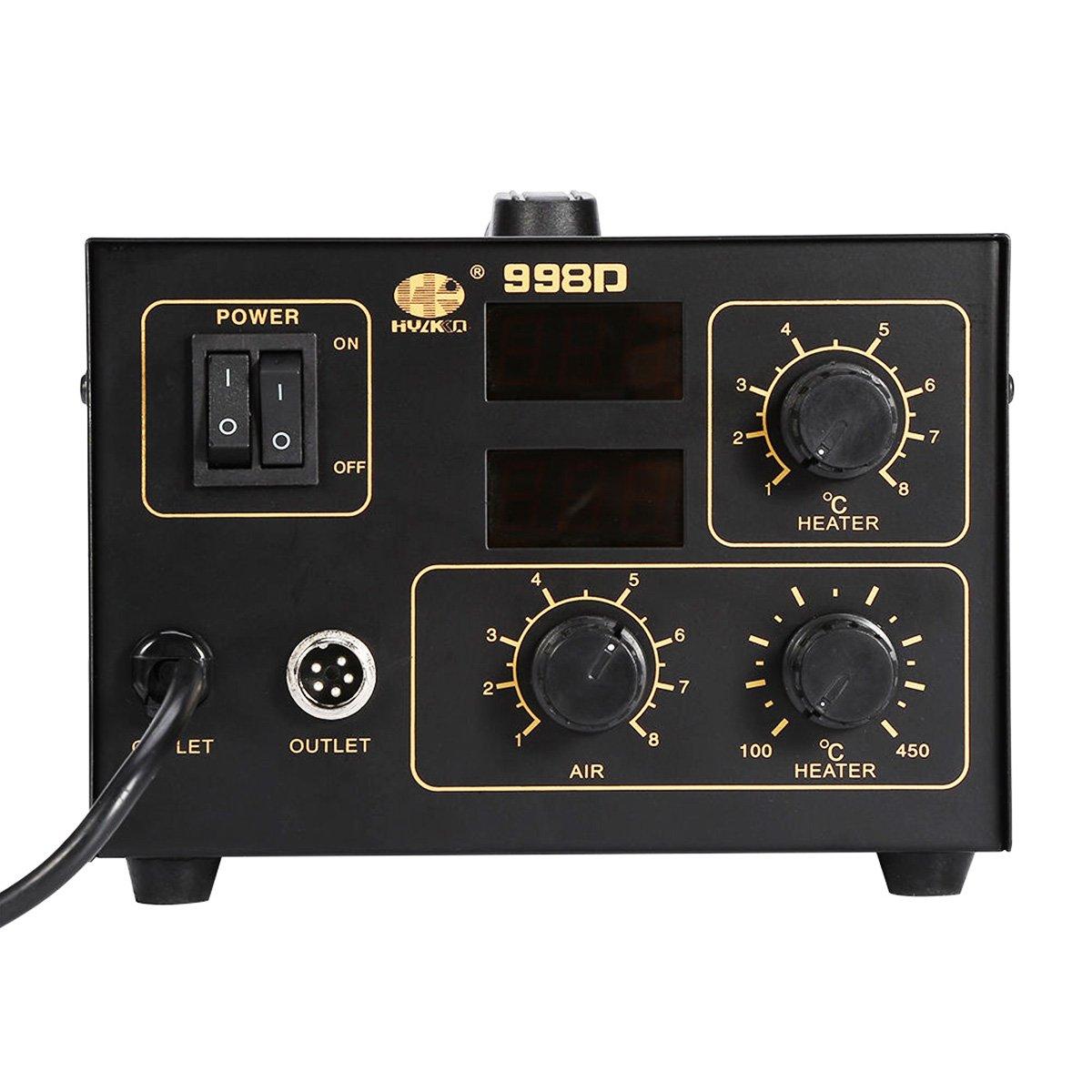 TRENDR 998d - Estación de soldadura de aire caliente 800 W (pistola + hierro)/100 °C - 450 °C/Estación de soldadura/para Micro Componentes Electrónicos cms ...