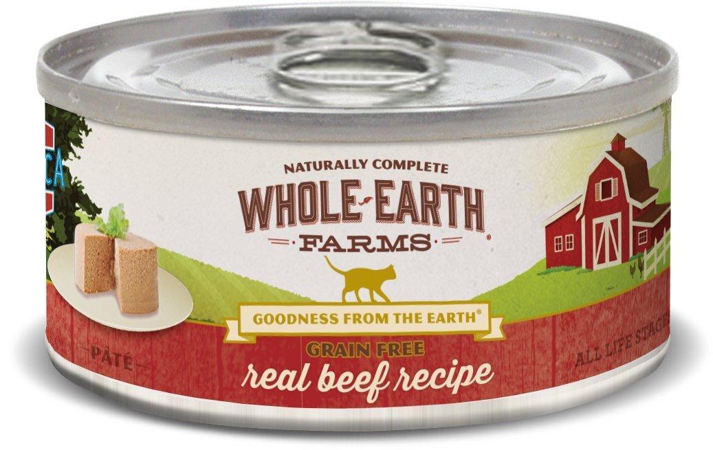 Whole Earth Farms Grain Free Receipe, 5 oz, Beef, 24 Count