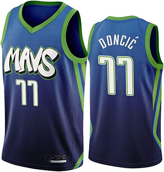 Camiseta de Baloncesto de los Hombres - NBA Dallas Mavericks # 77 Luka Doncic Mangas Transpirable Retro Deportes Camisetas: Amazon.es: Deportes y aire libre