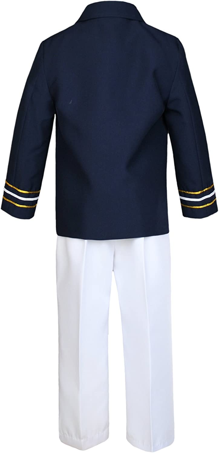 Baby Boy Toddler Nautical Captain Sailor Suit Wedding Formal Outfits Navy 0-7Yrs