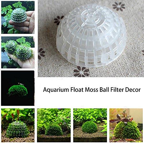 Aquarium Decorations,Hongxin Aquarium Decoration Plastic Media Moss Ball Filter Live Plant Ornaments Decor For Aquarium Fish Tank DIY Bio Ball Craft Creative Gift