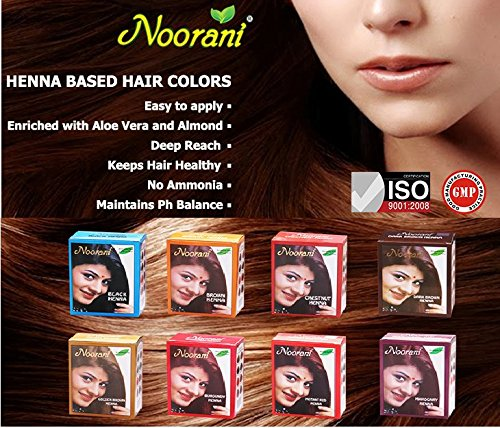 Noorani Henna Based Hair Color and Herbal Powder in USA | Ships from California (10 ( 60 Pouch x 10g ), BLACK HENNA) by Noorani (Image #2)