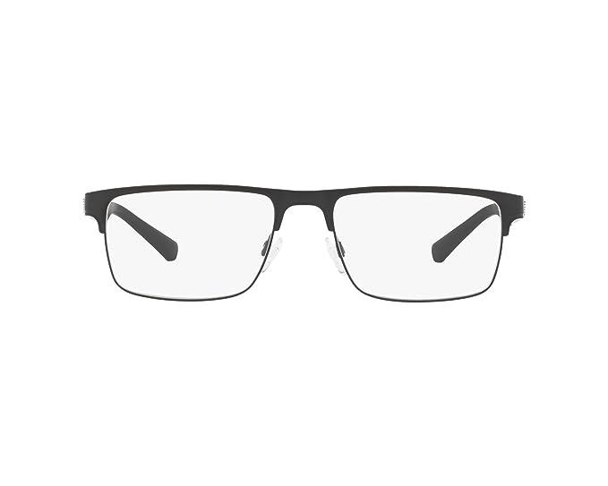 Emporio Armani 0EA1075, Monturas de Gafas para Hombre, Matte Black, 53: Amazon.es: Ropa y accesorios