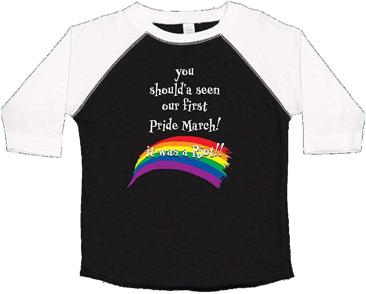inktastic You Shoulda Seen Our First Pride March It was a Riot Toddler T-Shirt