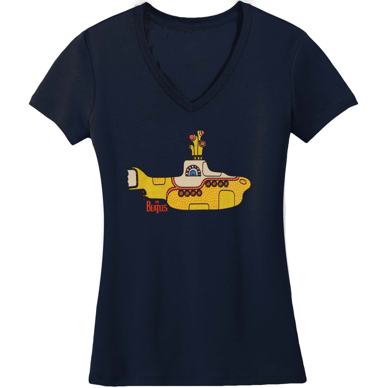 The Beatles Glitter Yellow Sub Girls T-shirt