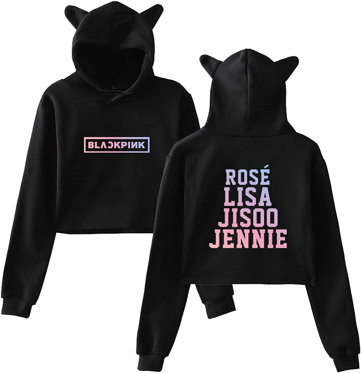 Xllife Kpop Blackpink Hoodie Crop Tops Lisa Rose Jisoo Jennie Sweater Jacket