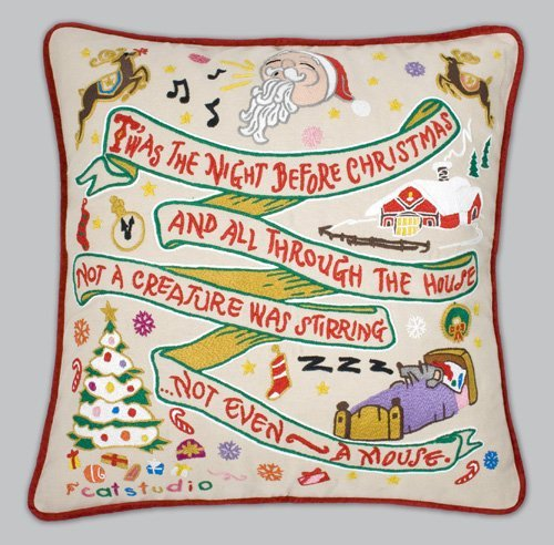 Night Before Christmas Pillow [並行輸入品] B07RCDGMWW
