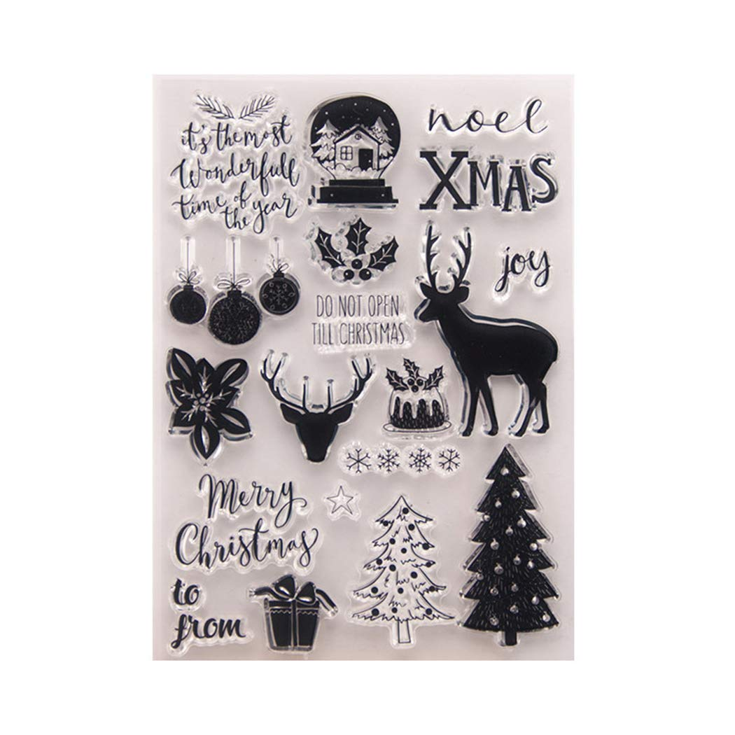 BINGMAX Christmas Clear Stamps for Party Decoration DIY Card Making and Scrapbooking Decoration Paper Crafts Photo Albums