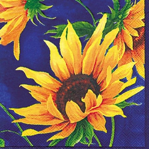 Ideal Home Range 20-Count 3-Ply Paper Lunch Napkins, Sunshine