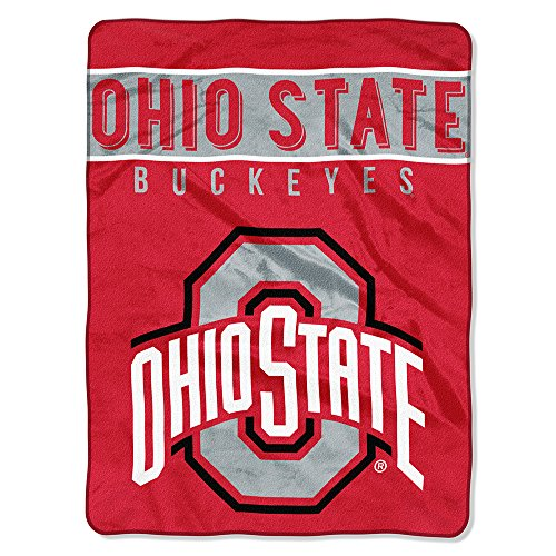 The Northwest Company Officially Licensed NCAA Ohio State Buckeyes Basic Plush Raschel Throw Blanket, 60