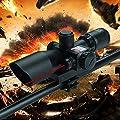 Freehawk® 2.5-10x40 Tactical/Optics Accessories/ Rifle Scope/Gun Scope/Gun sights Red & Green Laser Dual Illuminated Mil-dot with Rail Mount