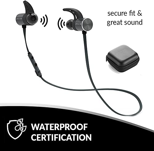 Wireless Bluetooth Waterproof Headphones Mini Sport Earbuds for Running, Jogging, Cycling, Hiking Magnetic Hands-Free Earphones Super Lightweight and Extremely Stable