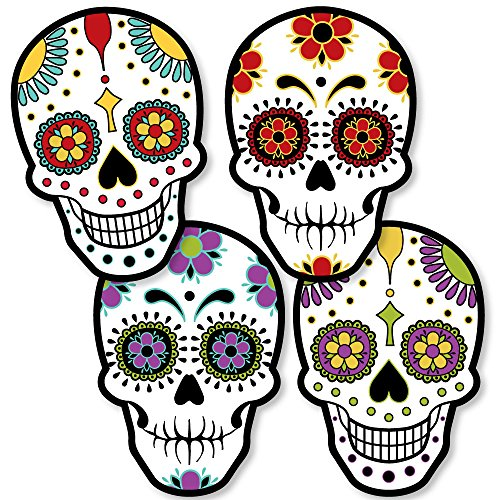Day of The Dead - Sugar Skull Decorations DIY Halloween Party Essentials - Set of -