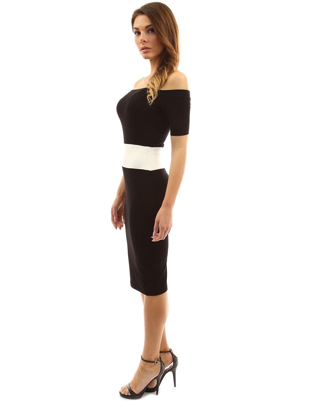 PattyBoutik Women s Color Block Off Shoulder Dress at Amazon Women s  Clothing store  44dfb8f5e0
