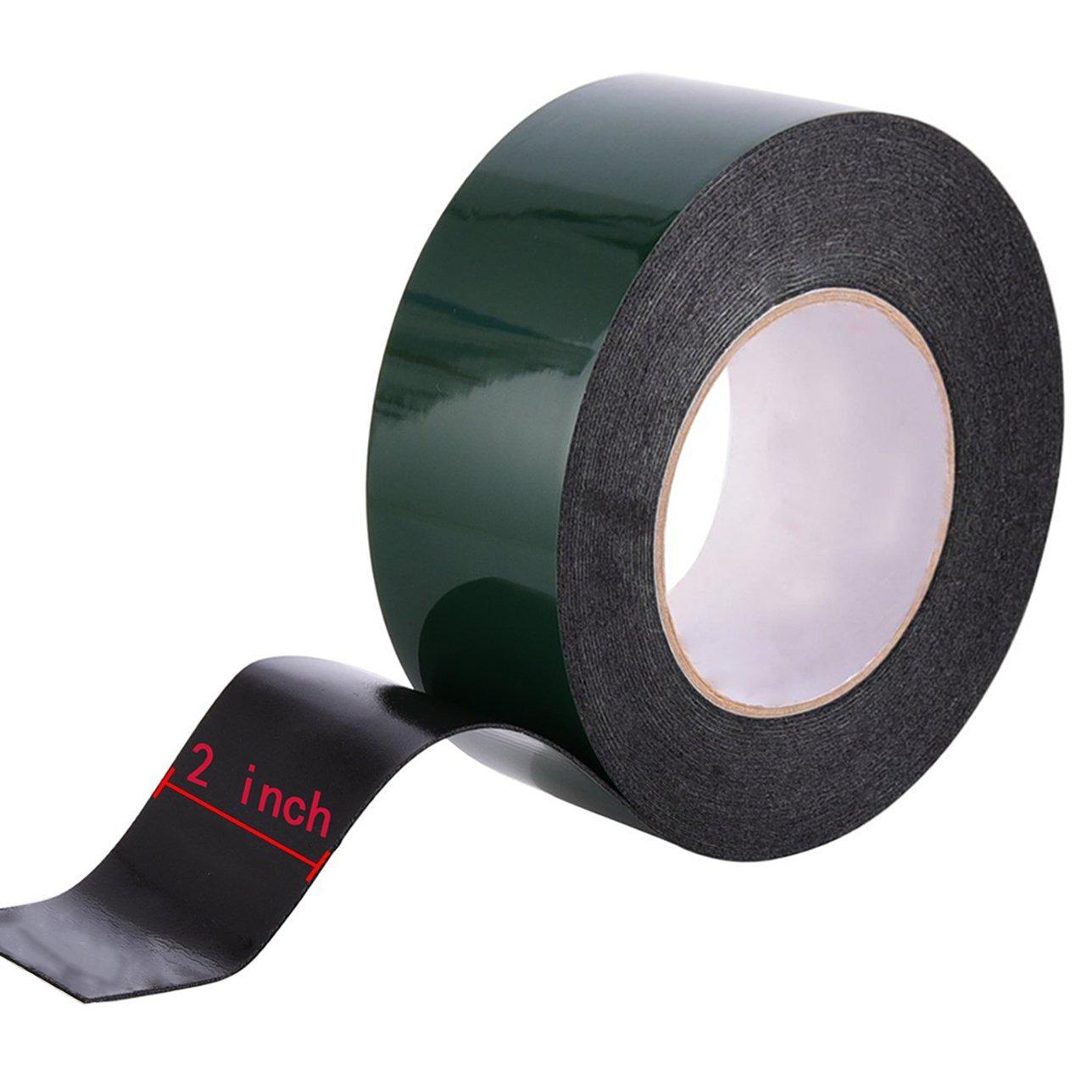 nero 50/mm Maveek 10/m schiuma nastro biadesivo spugna nastro impermeabile rotolo di nastro adesivo di montaggio auto visiera