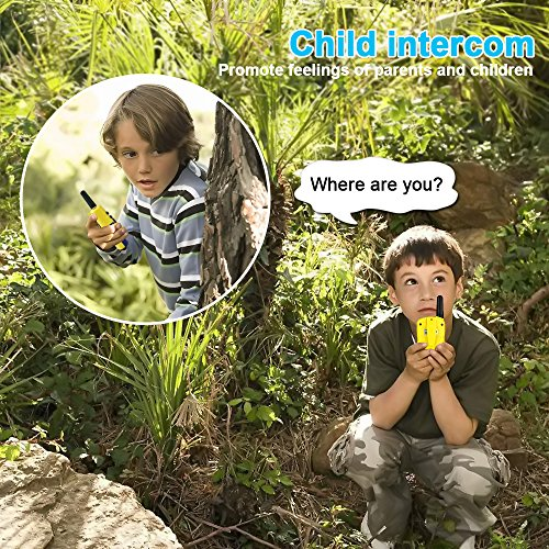 Walkie Talkies for Kids Boys Girls, Ouwen Long Range Walkie Talkies for Kids Popular Hottest Outdoor Toys for 3-12 Year Old Boys Girls Presents Gifts for 3-12 Year Old Boys Girls Yellow Blue OWUSDD09 by Ouwen (Image #6)