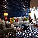 Art3d Durable Plastic 3D Wall Panel PVC Wave Wall