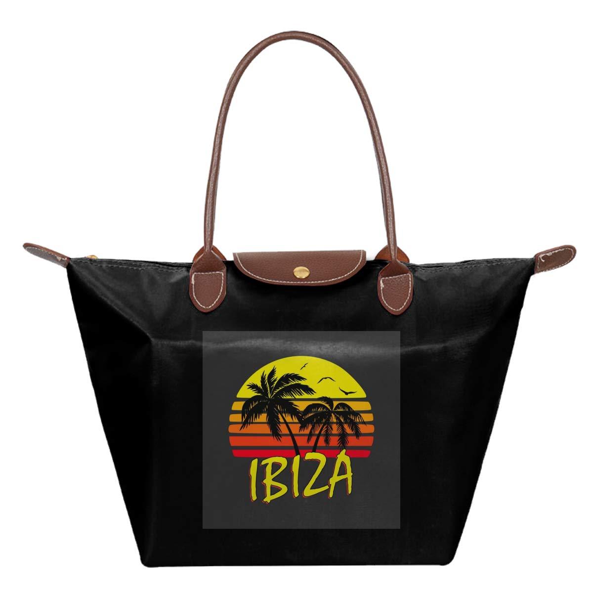 Ibiza Vintage Sun Waterproof Leather Folded Messenger Nylon Bag Travel Tote Hopping Folding School Handbags