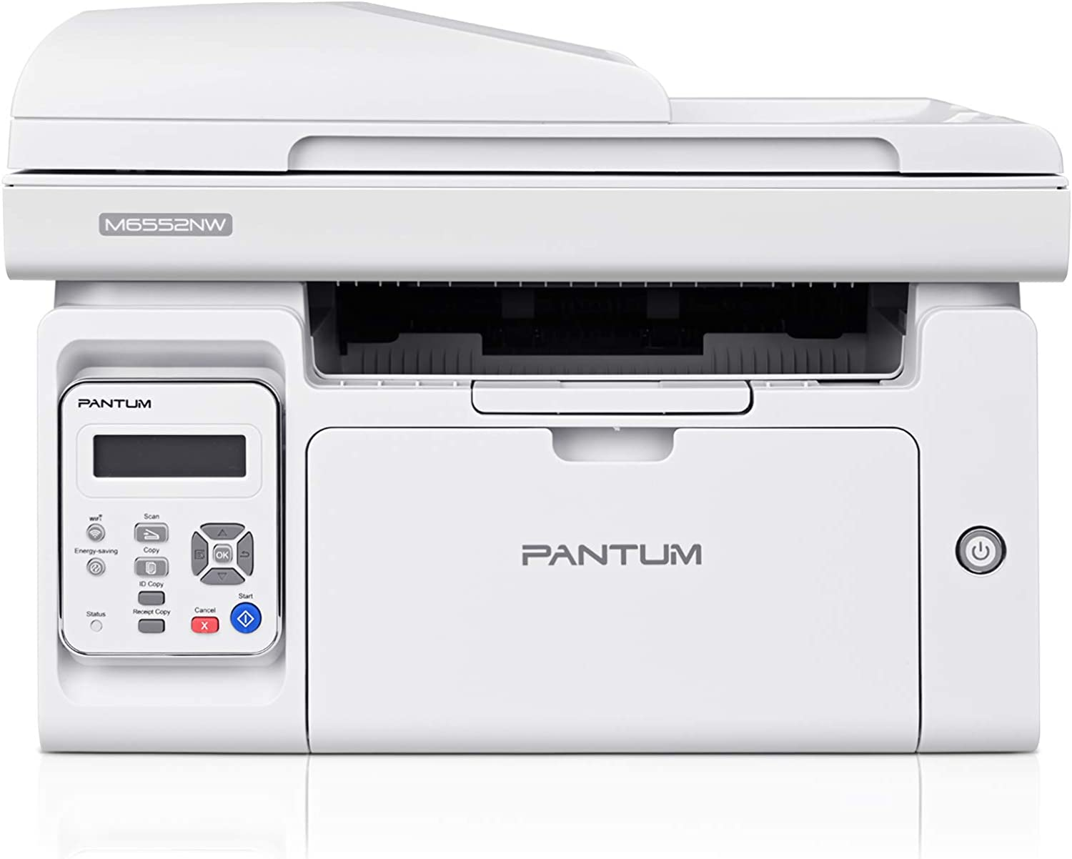 Printer Scanner Copier with ADF, All-in-One Wireless Black and White Laser Printer Print at 23ppm, Pantum M6552NW(V2U93A)