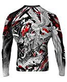 Raven Fightwear Good and Evil Rash Guard MMA BJJ White Medium