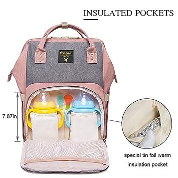 Satchels - Bolso cambiador para bebé (rosa): Amazon.es: Bebé