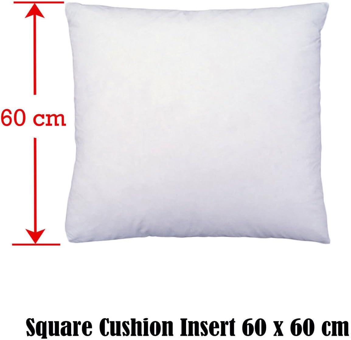 24 x 24 24 x 24 White Pack of 2, 60 x 60cm 60x60cm ROHI Cushion pad INNER
