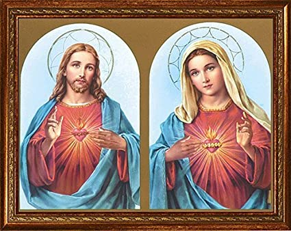 Image result for sacred and immaculate hearts