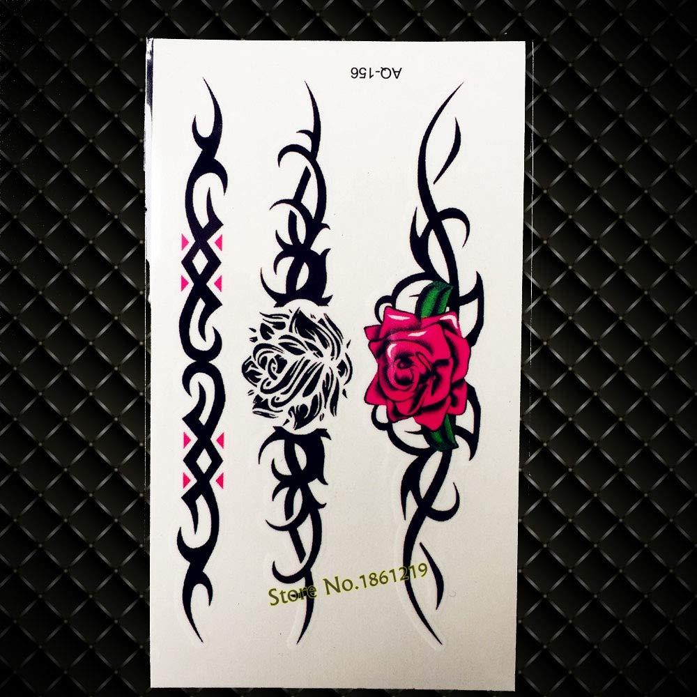 GVDTYKJF Tatuajes Temporales Moda Impermeable Brújula Timón Ancla ...
