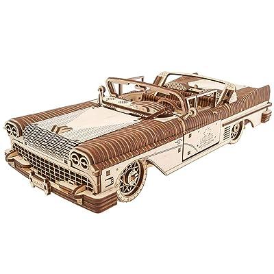 Dream Cabriolet VM-05 Mechanical Model Kit, Wooden 3D Car Puzzle for Self Assembling, Best Men Gift by Ugears: Toys & Games
