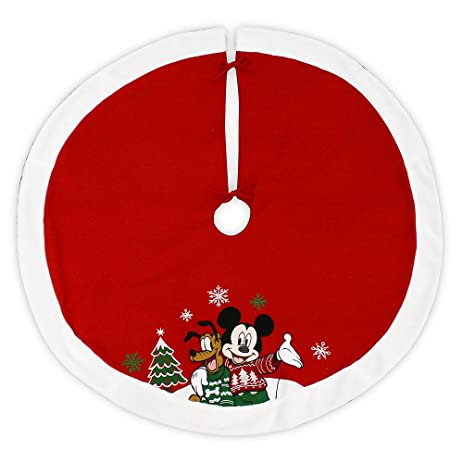Disney 48 Inch Christmas Tree Skirt   Mickey Mouse And Pluto