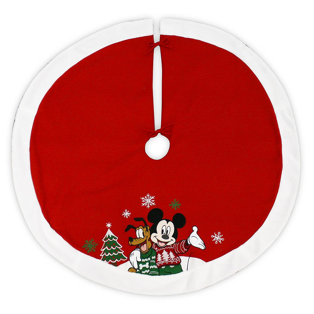 Disney 48 Inch Christmas Tree Skirt - Mickey Mouse and Pluto