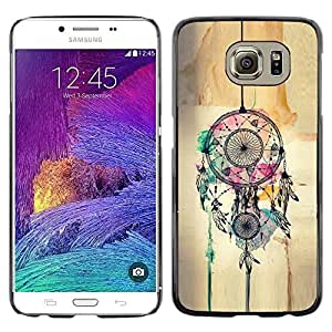 LECELL--Funda protectora / Cubierta / Piel For Samsung Galaxy S6 SM-G920 -- Catcher Art Hipster Indian --