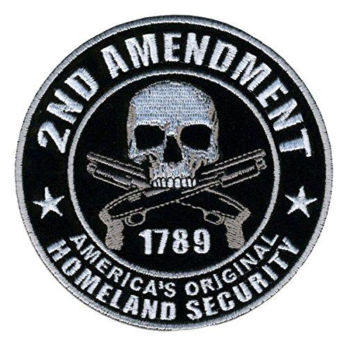 Large Homeland Security 2nd Amendment Skull W Pistol Guns 17