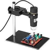 KKmoon Microscope Numérique USB 8 LED 1000X avec l'Endoscope de Fonction OTG Loupe Magnétique Loupe Lumineux avec le support