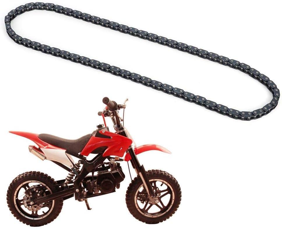 Qii lu Aluminum Alloy T8F Chain 116 Links Fit for 47cc 49cc Mini Dirt ATV Pocket Bikes Minimo