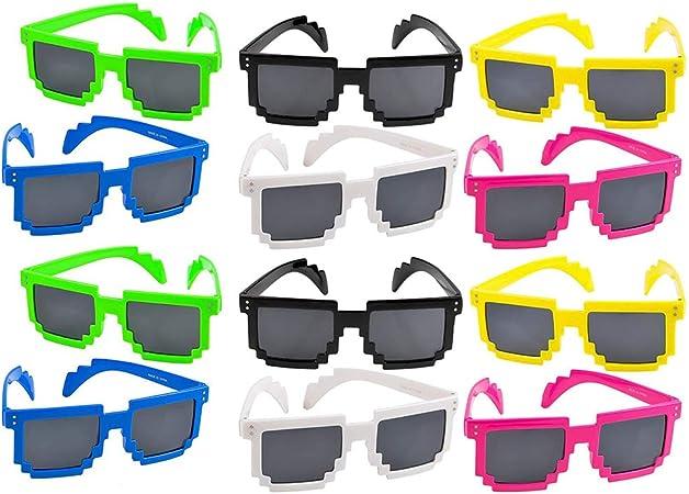 Amazon.com: Gafas de pixel coloridas – 12 lentes ...
