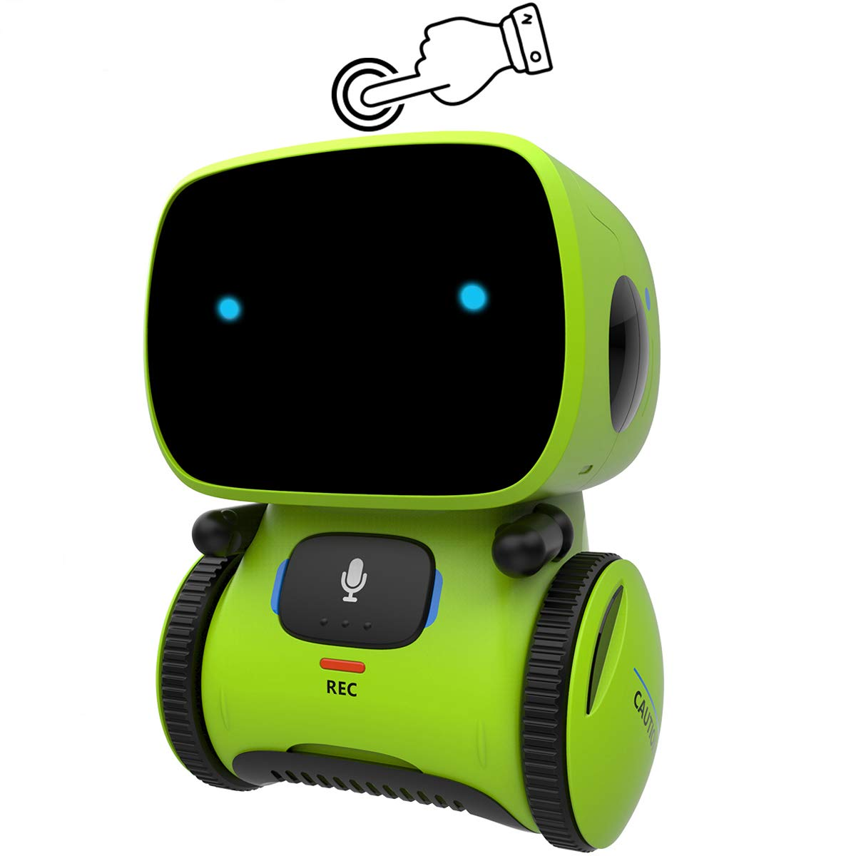 Gilobaby Kids Robot Toy, Talking Interactive Voice Controlled Touch Sensor Smart Robotics with Singing, Dancing, Repeating, Speech Recognition and Voice Recording, Gift for Kids Age 3+ (Green) by GILOBABY (Image #1)