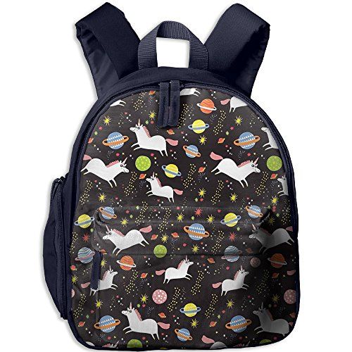 Unicorn Pattern Kid's School Bag For 3-6 Years Old Child's ShoulderBackpack Navy For Boy