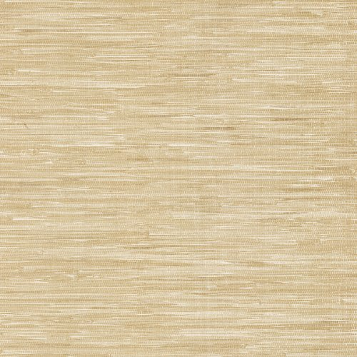 Brewster 412-44143 20.5-Inch by 396-Inch Faux Grasscloth - Textured Depth Wallpaper, Tan - Faux Grass Cloth