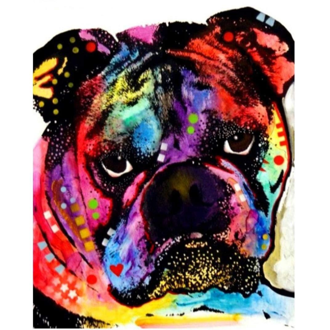 Full Diamond Mountain Stream Embroidery Rhinestone Cross Stitch Arts Craft Supply for Home Wall Decor HIKO23 DIY 5D Diamond Painting Kit Bulldog
