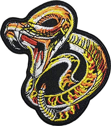 - OTA PATCH Fanged Rattlesnake Snake Serpent Attack Striking patch biker heavy metal Horror Punk Emo Rock DIY Logo Jacket Vest shirt hat blanket backpack T shirt Embroidered Appliques Symbol Badge Cloth