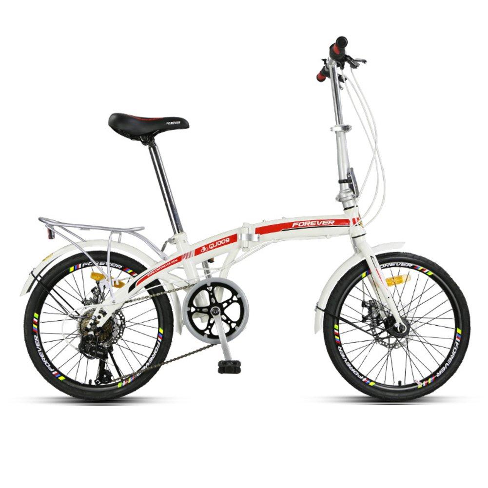 女性 折りたたみ自転車, 大人 折りたたみ自転車 折りたたみ 男女 7 スピード シマノ 超軽量 ポータブル 街乗り 折りたたみ自転車 B07D2C2Z3W赤 20inch